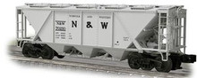 Weaver N&W H30 covered hopper car (gray), 2 rail or 3 rail