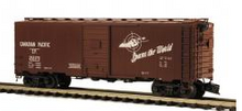 MTH Premier CP (spans the world)  40' steel AAR Box car, 3 rail