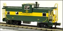 Atlas O Rutland Extended Vision Caboose, 3 rail