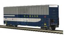 MTH Premier Wabash 50' Hy-cube Box car, 3 rail
