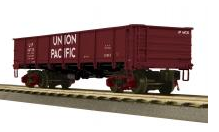 MTH Premier UP (white letters) 50 Ton steel Drop Bottom Gondola Car, 3 rail