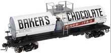 Atlas O Special Run Bakers Chocolate 11,000  gallon tank car, 3 rail or 2 rail