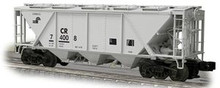 Weaver Conrail H30 covered hopper car (gray), 2 rail or 3 rail