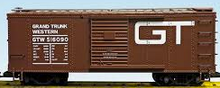 Weaver GTW (tuscan) 40' PS-1 box car, 3 rail or 2 rail
