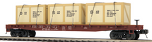 MTH Premier PRR 50' Flat Car w/crates, 3 rail