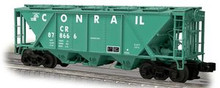 Weaver Conrail H30 covered hopper car (green), 2 rail or 3 rail