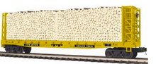 MTH Premier TTX Bulkhead Flat Car w/Log, 3 rail