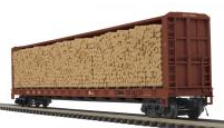 MTH Premier Southern 75' Center Beam bulkhead Flat Car w/Log Load, 3 rail