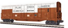 MTH Premier Plum Creek Lumber 55' All Door Box car, 3 rail