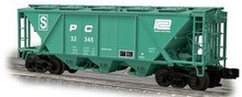 Weaver Penn Central H30 covered hopper car (green), 2 rail or 3 rail