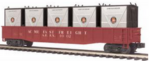 MTH Premier Acme Freight Gondola  w/ 5 LCL Containers, 3 rail