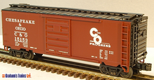 MTH Premier C&O (for progress)   40'  steel Box car, 3 rail