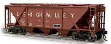Weaver Lehigh Valley H30 covered hopper car (tuscan), 2 rail or 3 rail