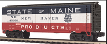 MTH Premier New Haven (state of maine) 40' plug door (bunkerless) reefer 3 rail