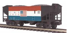 MTH Premier Cambria & Indiana 2-Bay Offset Hopper w/Coal Load, 3 rail