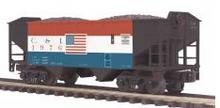 MTH Premier Cambria & Indiana 2-Bay Offset Hopper w/Coal Load, 3 rail
