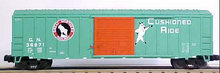 MTH Premier GN (green) 1960's and later  50' steel Box car, 3 rail