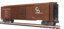 MTH Premier C&O  1950's & later  50' double door Box car, 3 rail
