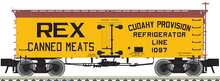 Atlas O Rex Canned Meats  36' Wood Reefer, 3 rail or 2 rail