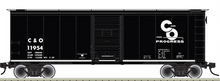 Pre-Order for Atlas O C&O (black) 1937  (1930's-1960's vintage)   40' box  car, 3 rail or 2 rail