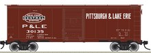 Atlas O P&LE (tuscan)  AAR   (1930's-1960's vintage)   40' box  car, 3 rail or 2 rail