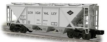 Weaver Lehigh Valley H30 covered hopper car (gray), 2 rail or 3 rail