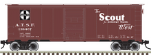 Pre-Order for Atlas O Santa Fe  Scout 1937  (1930's-1960's vintage)   40' box  car, 3 rail or 2 rail