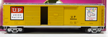 "MTH Premier UP  ""Automated Rwy""  50' double door Box car, 3 rail"