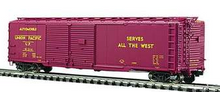 "MTH Premier UP  ""Streamliners""  50' double door Box car, 3 rail"