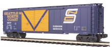 MTH Premier Seattle North Coast 50' double door Box car, 3 rail