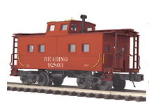 MTH Premier Reading (red) center cupola NE style Caboose, 3 rail