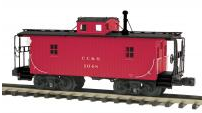 MTH Premier Clinchfield N-6B style wood caboose, 3 rail