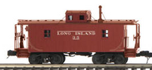 MTH Premier LIRR (early) N-6B style wood caboose, 3 rail