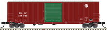 Pre-order for  Atlas O BNSF 50' 1970's & later  box car (green door), 3 rail or 2 rail