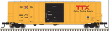 Atlas O RBOX/TTX (latest scheme) 50' 1970's & later  box car, 3 rail or 2 rail
