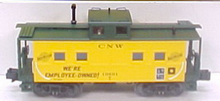 MTH Railking Scale C&NW northeastern  style Caboose, 3 rail