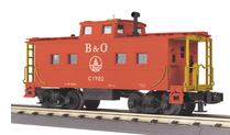 MTH Railking Scale B&O (red) northeastern  style Caboose, 3 rail