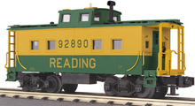 MTH Railking Scale Reading Northeastern style center cupola Caboose, 3 rail