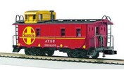 MTH Premier Santa Fe rivited steel offset cupola Caboose , 3 rail