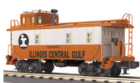 MTH Railking scale  ICG rivited steel offset cupola Caboose , 3 rail