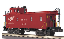 MTH Railking scale MKT rivited steel offset cupola Caboose , 3 rail