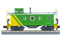 MTH Railking scale NP (green) rivited steel offset cupola Caboose , 3 rail