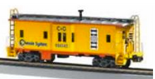 MTH Railking Scale Chessie  Bay Window Caboose, 3 rail