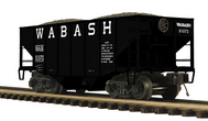 MTH Premier wabash 2-Bay Fishbelly Hopper w/Coal Load, 3 rail