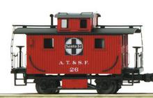 MTH Railking Scale Santa Fe Bobber Caboose, 3 rail