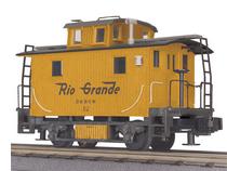 MTH Railking Scale Rio Grande Bobber Caboose, 3 rail