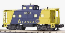 MTH Railking scale Alaska RR Center Cupola Northeastern style Caboose, 3 rail