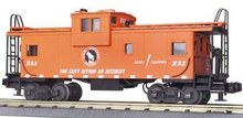 MTH Premier GN  (red) extended vision Caboose, 3 rail
