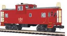 MTH Premier B&LE extended vision Caboose, 3 rail