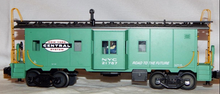MTH Railking Scale NYC (jade green)  Bay Window Caboose, 3 rail